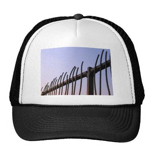 Zaun des Stahls Caps