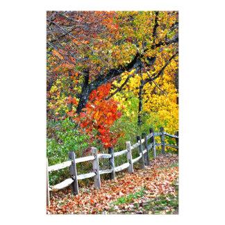 Zaun im Park Briefpapier