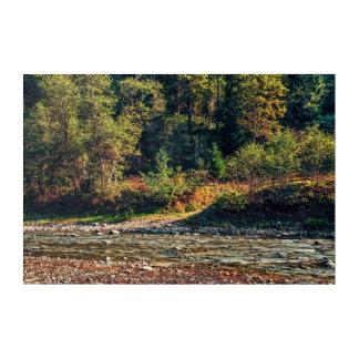 Zaun nahe dem Fluss Acryl Wandkunst