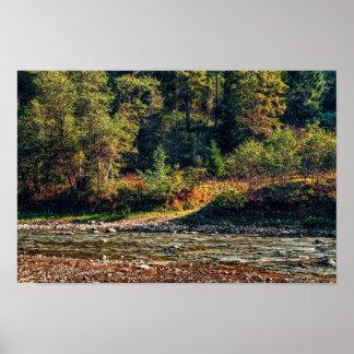 Zaun nahe dem Fluss Poster