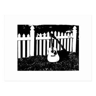 Zaun von Träumen - Gitarren-Postkarte Postkarte