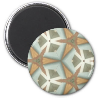 ZAZ mittleres Cent-Dreieck Patt Runder Magnet 5,1 Cm