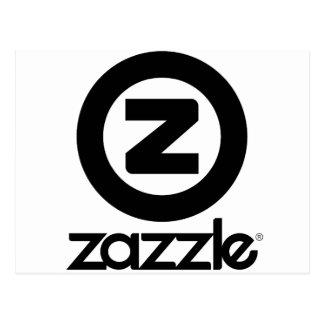zazzle Logo gestapelt Postkarte