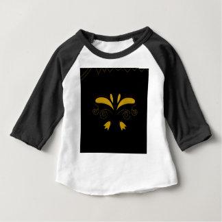 Zazzle Luxusgold mit schwarzen Verzierungen Baby T-shirt