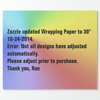 Zazzle Packpapier-Aktualisierung Geschenkpapier