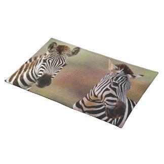 Zazzling Zebras-Amerikaner Mojo Tischsets