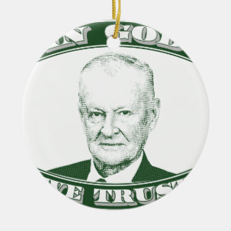 Zbigniew Brzezinski im Gott, den wir vertrauen Keramik Ornament