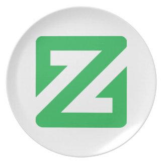 ZCoin Platte Melaminteller