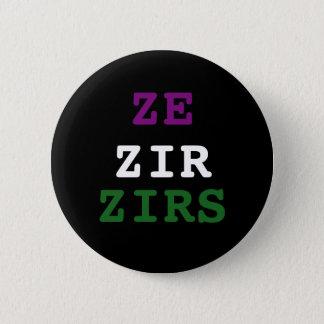Ze/zir/zirs Pronomen-Knopf Runder Button 5,1 Cm