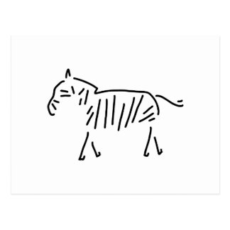 zebra afrika zebrasteifen postkarte