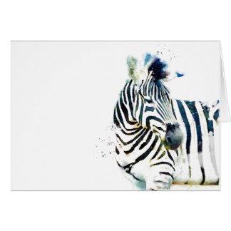 Zebra-Aquarell Karte