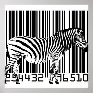 Zebra-Barcode-Kunst-Plakat Poster