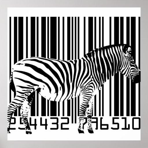 Zebra-Barcode-Kunst-Plakat