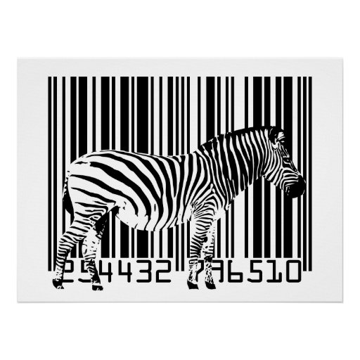 Zebra-Barcode-Kunst Plakat