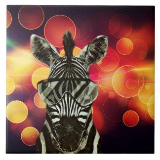 Zebra Bokeh Art Keramikfliese