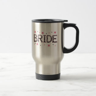 Zebra-Braut Reisebecher