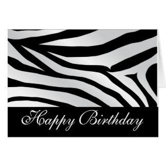 Zebra-Druck-alles- Gute zum Geburtstagkarte Karte
