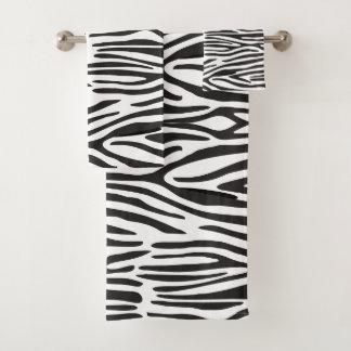 Zebra-Druck-Badezimmer-Tuch-Set Badhandtuch Set