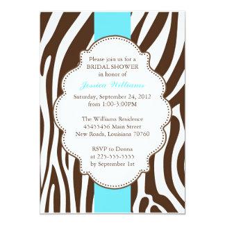 Zebra-Druck-Brautparty 12,7 X 17,8 Cm Einladungskarte
