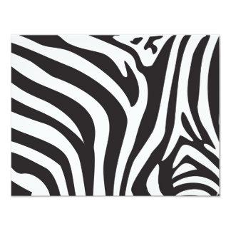 Zebra-Druck 10,8 X 14 Cm Einladungskarte