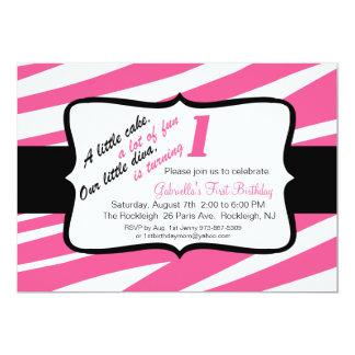 Zebra Druck Erste Geburtstags Einladung Karte