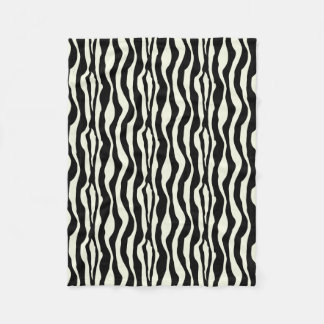Zebra-Druck-Fleece Fleecedecke