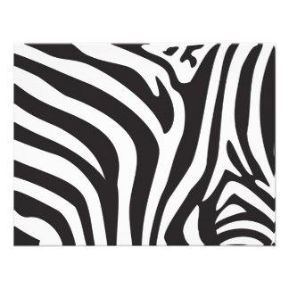 Zebra-Druck Individuelle Ankündigskarten