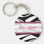 Zebra-Druck Keychain Schlüsselanhänger