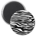 Zebra-Druck-Muster - Schwarzweiss Magnets