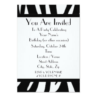 Zebra-Druck-Party Einladung