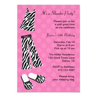 Zebra-Druck-Schlummer-Party Einladungen