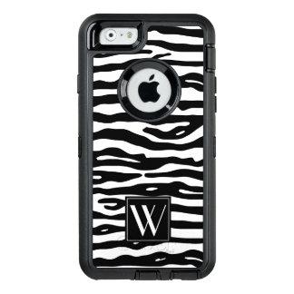 Zebra-Druck-Schwarz-weiße Streifen-stilvolles OtterBox iPhone 6/6s Hülle