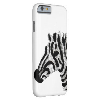 Zebra-Druck-Schwarzweiss-Streifen Barely There iPhone 6 Hülle