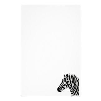 Zebra-Druck-Schwarzweiss-Streifen Briefpapier