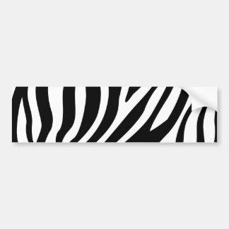 Zebra-Druck-Schwarzweiss-Streifen-Muster Autoaufkleber