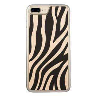 Zebra-Druck-Schwarzweiss-Streifen-Muster Carved iPhone 8 Plus/7 Plus Hülle