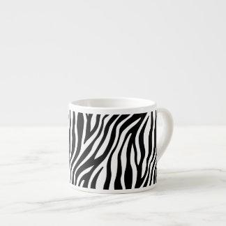 Zebra-Druck-Schwarzweiss-Streifen-Muster Espressotasse