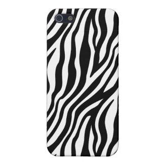 Zebra-Druck-Schwarzweiss-Streifen-Muster iPhone 5 Etui