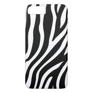 Zebra-Druck-Schwarzweiss-Streifen-Muster iPhone 8 Plus/7 Plus Hülle
