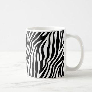 Zebra-Druck-Schwarzweiss-Streifen-Muster Kaffeetasse