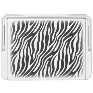 Zebra-Druck-Schwarzweiss-Streifen-Muster Kühlbox
