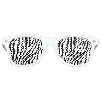 Zebra-Druck-Schwarzweiss-Streifen-Muster Partybrille