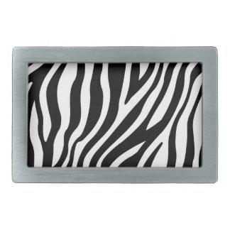 Zebra-Druck-Schwarzweiss-Streifen-Muster Rechteckige Gürtelschnallen
