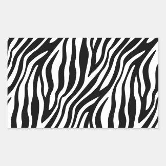 Zebra-Druck-Schwarzweiss-Streifen-Muster Rechteckiger Aufkleber