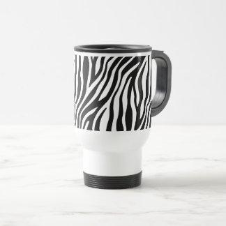 Zebra-Druck-Schwarzweiss-Streifen-Muster Reisebecher