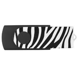 Zebra-Druck-Schwarzweiss-Streifen-Muster USB Stick