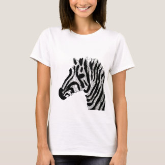 Zebra-Druck-Schwarzweiss-Streifen T-Shirt