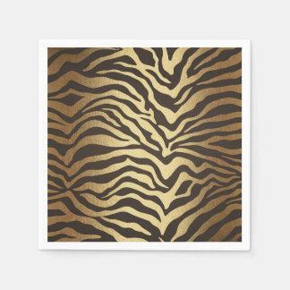 Zebra-Druck-Tierhaut-elegantes modernes Serviette