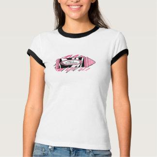 Zebra-Druck u. rosa des Zeichenstift-Lehrer-Shirt T-Shirts