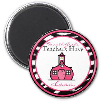 Zebra-Druck-vierter Grad-Lehrer-Magnet Runder Magnet 5,7 Cm